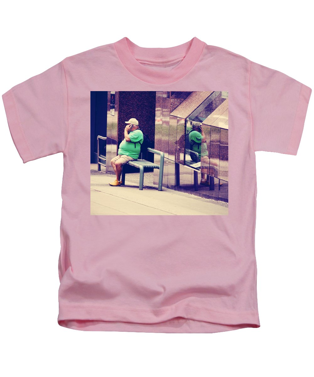 Kids T-Shirt featuring the photograph Call The Wife by The Artist Project
