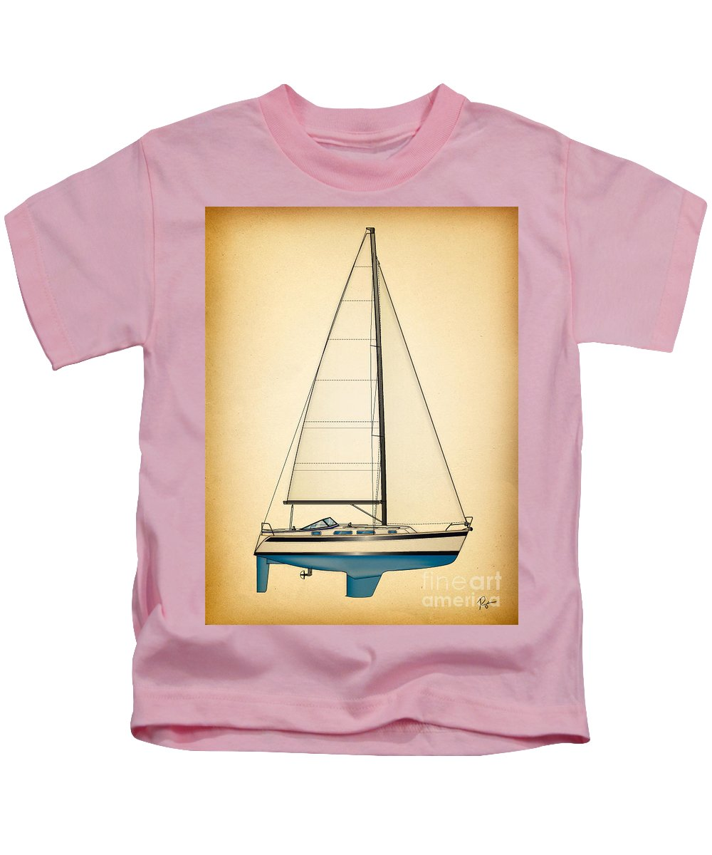Regina Gallant Kids T-Shirt featuring the drawing Ceq Blue by Regina Marie Gallant
