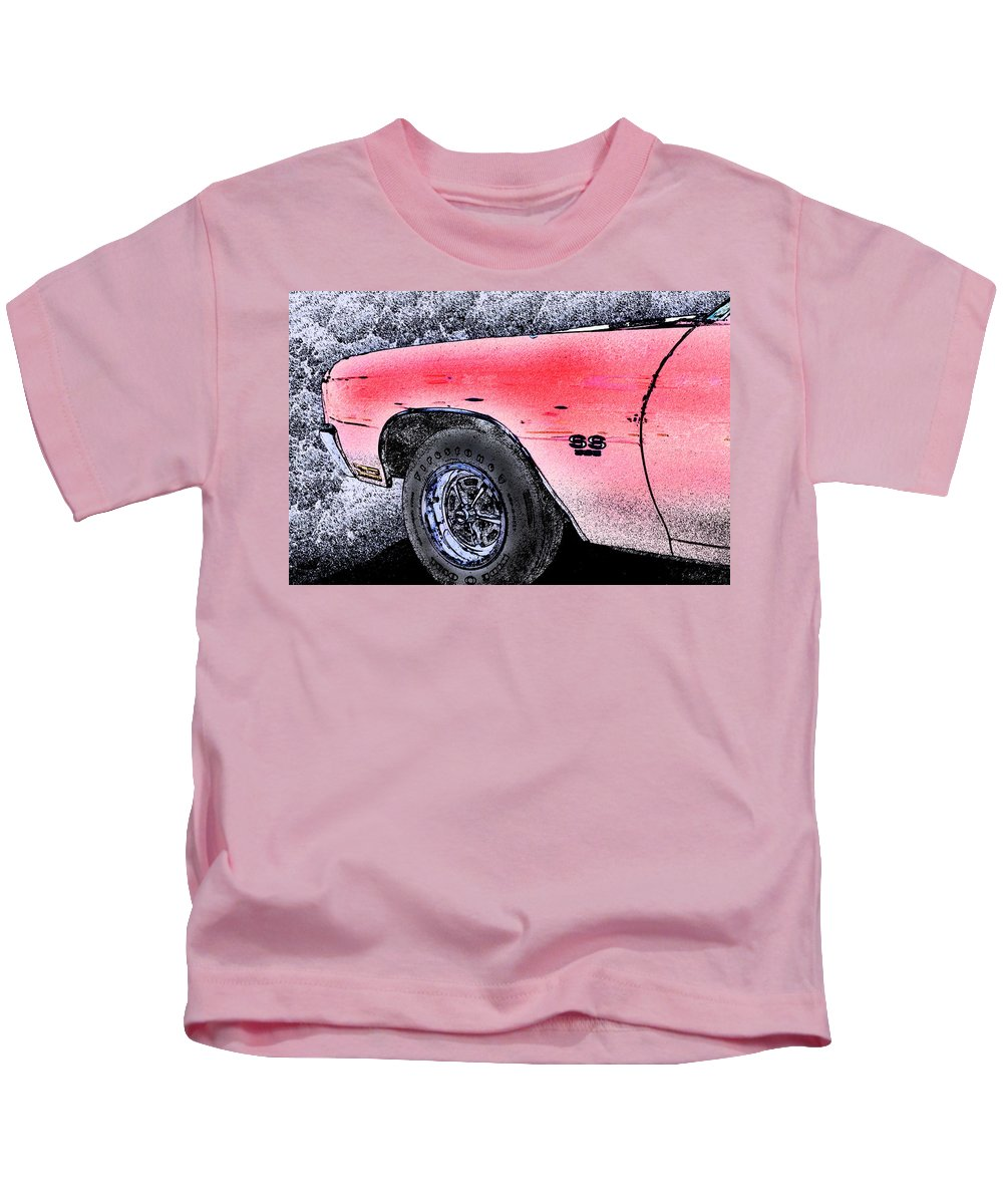 Classic Kids T-Shirt featuring the photograph Chevelle Ss 356 by Michael Porchik