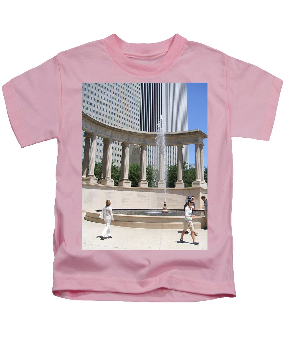 Chicago Kids T-Shirt featuring the photograph Chicago Tourism by Minding My Visions by Adri and Ray