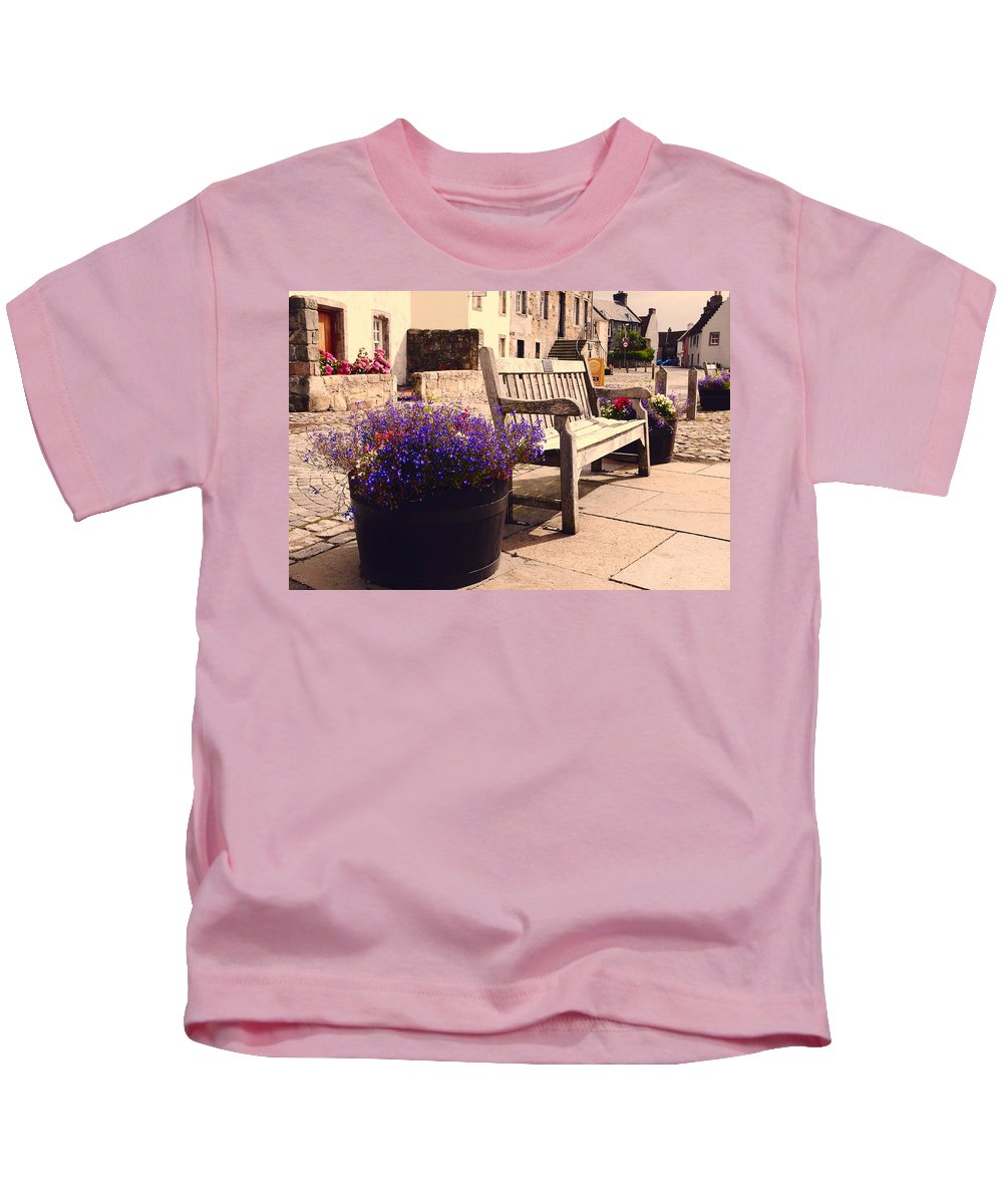 Scotland Kids T-Shirt featuring the photograph Culross Sketches 4. Scotland by Jenny Rainbow
