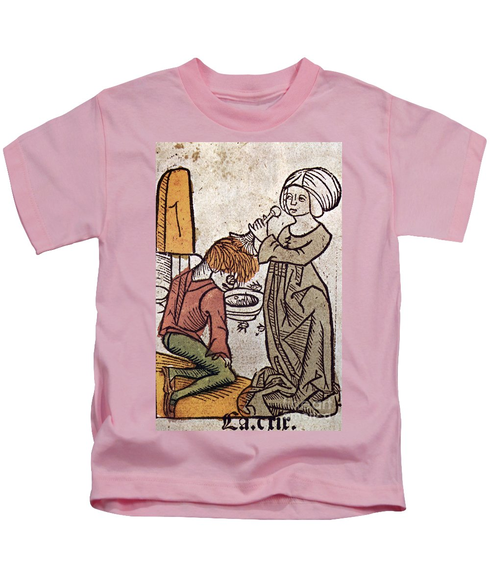 1491 Kids T-Shirt featuring the photograph De-lousing, 1491 by Granger