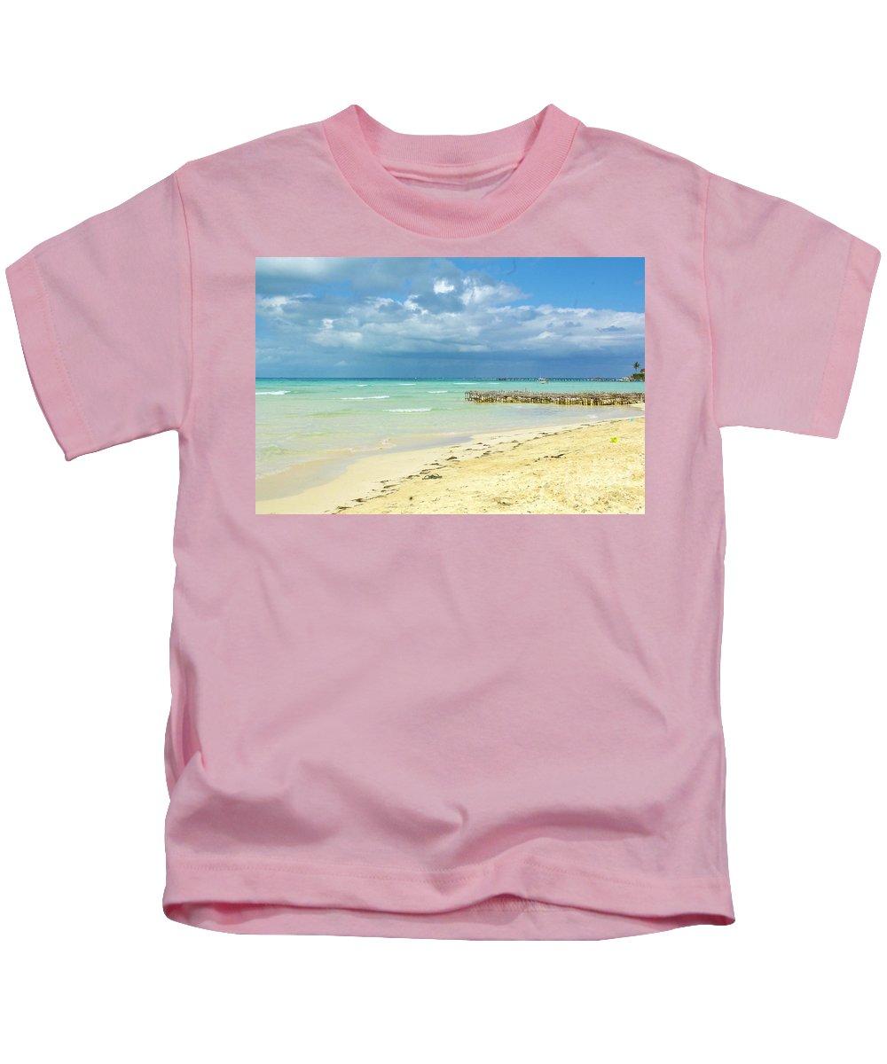 Keri West Kids T-Shirt featuring the photograph De Playa by Keri West