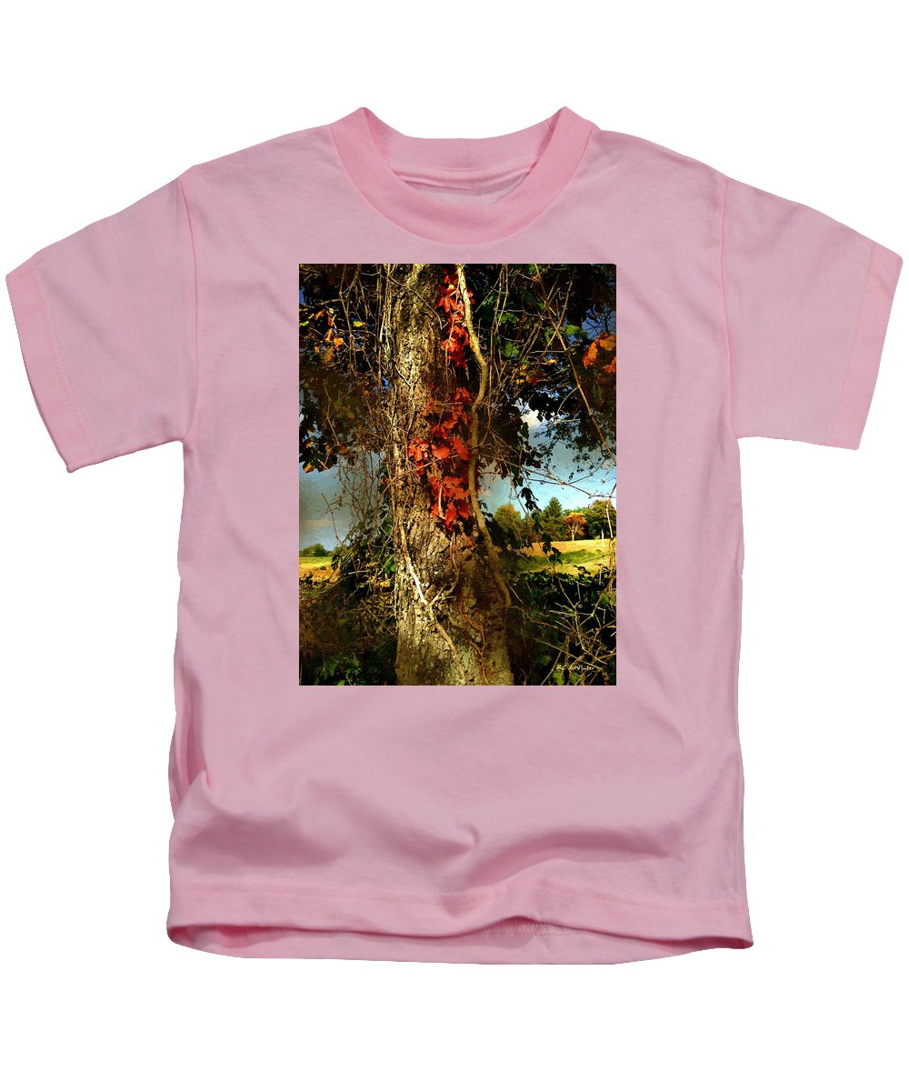Tree Kids T-Shirt featuring the painting Druid Oak by RC DeWinter