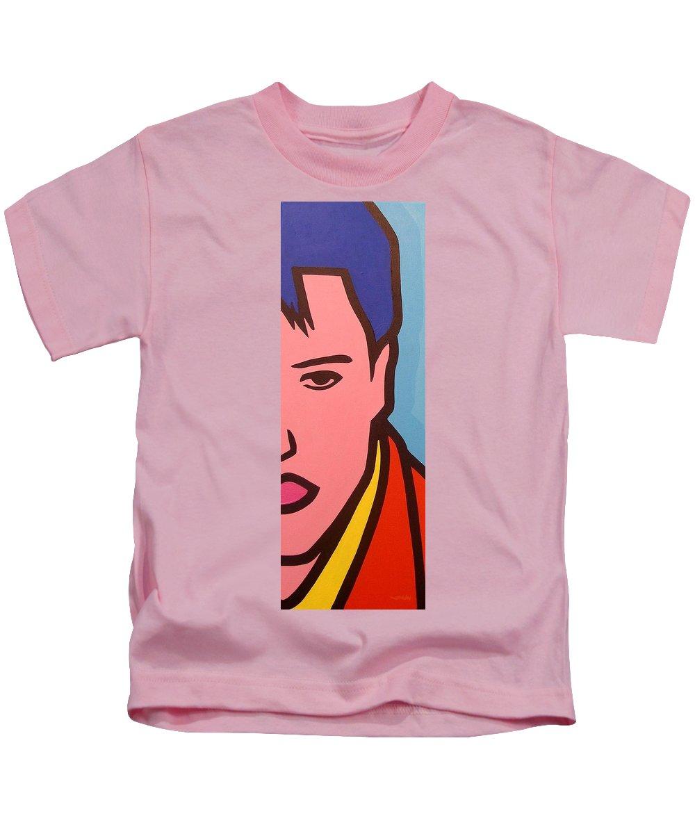 Elvis Presley Kids T-Shirt featuring the painting Elvis Presley by John Nolan