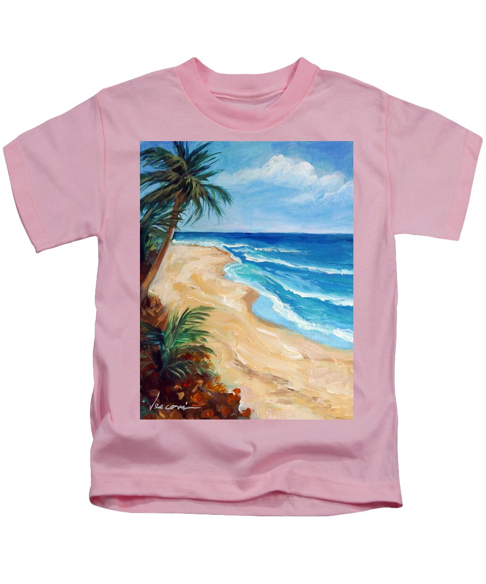 Seascape Kids T-Shirt featuring the painting Favorite View by Valerie Vescovi