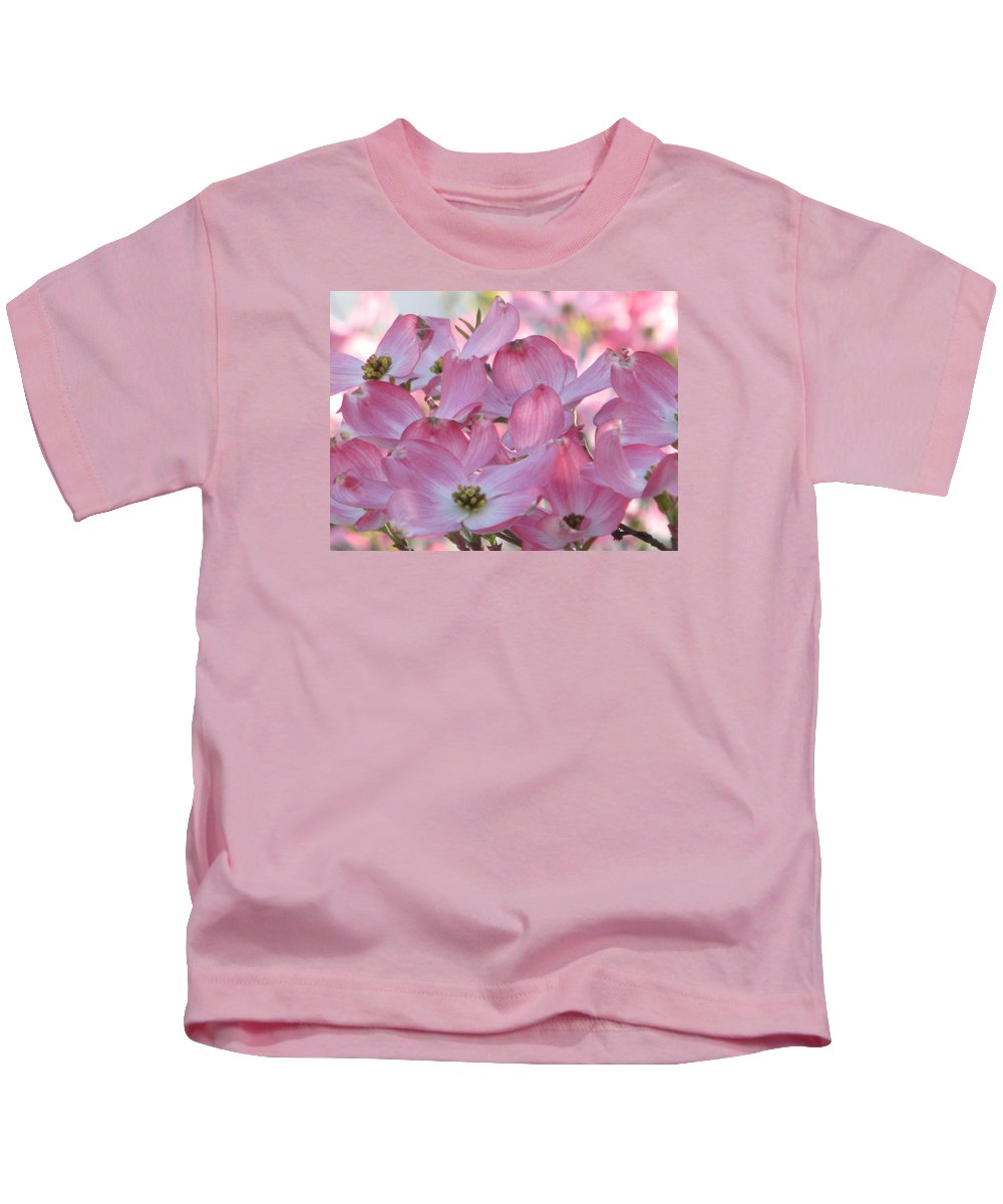 Pink Dogwood Kids T-Shirt featuring the photograph Glorious Spring Dogwood by Angela Davies