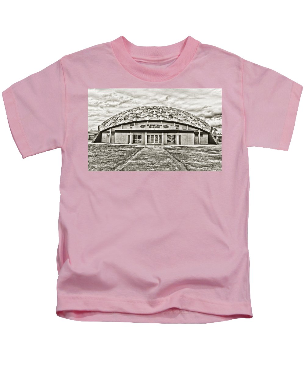 Gold Dome Kids T-Shirt featuring the photograph Gold Dome by Scott Pellegrin