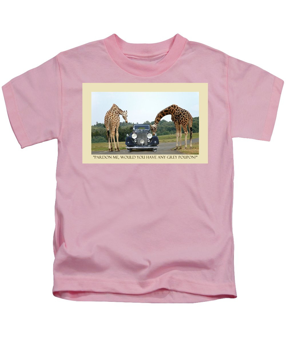 Pardon Me Kids T-Shirt featuring the photograph Got Grey Poupon by Jack Pumphrey