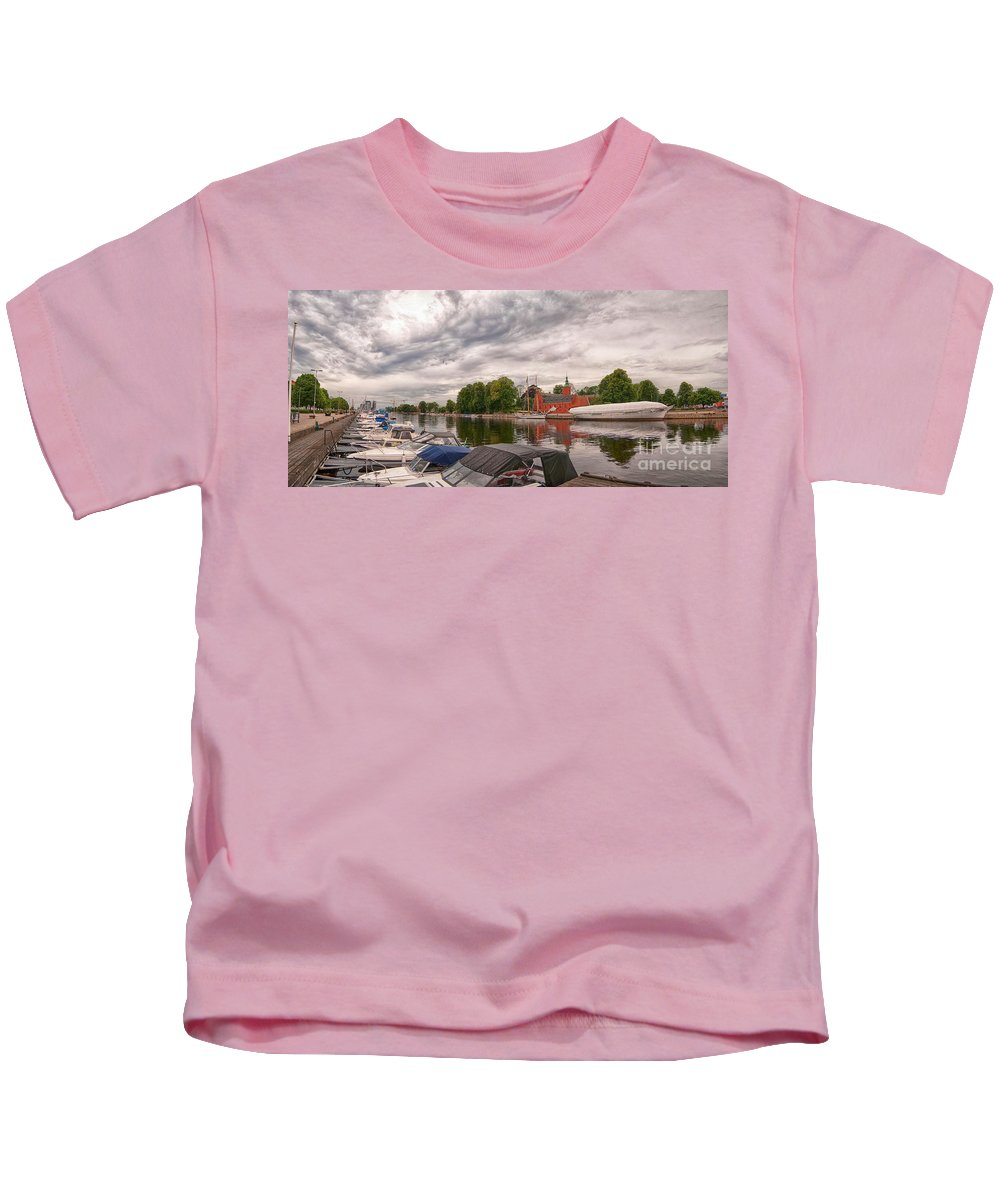 Halmstad Kids T-Shirt featuring the photograph Halmstad Castle 01 by Antony McAulay