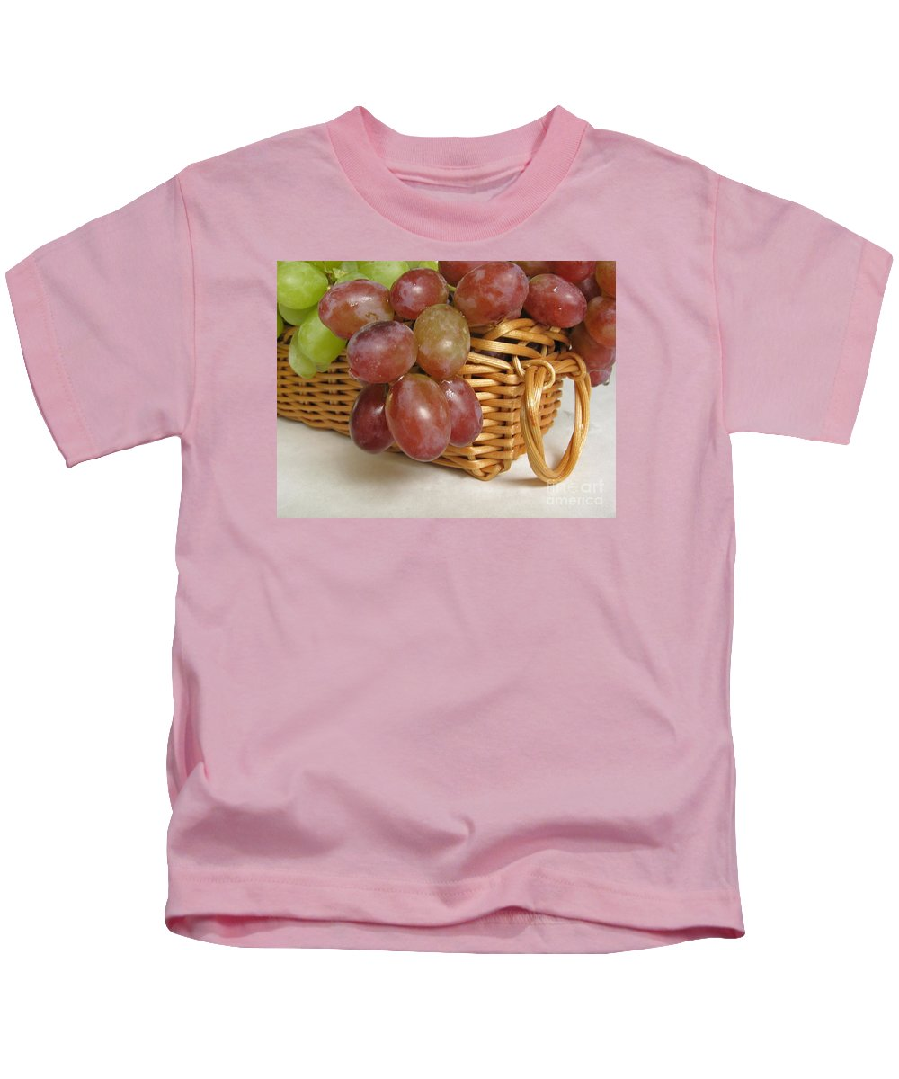 Grapes Kids T-Shirt featuring the photograph Healthy Snack by Ann Horn