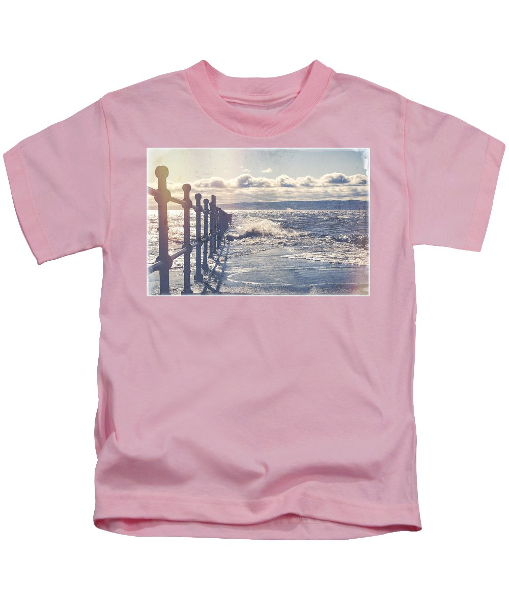 Sea Kids T-Shirt featuring the photograph High Tide by Spikey Mouse Photography