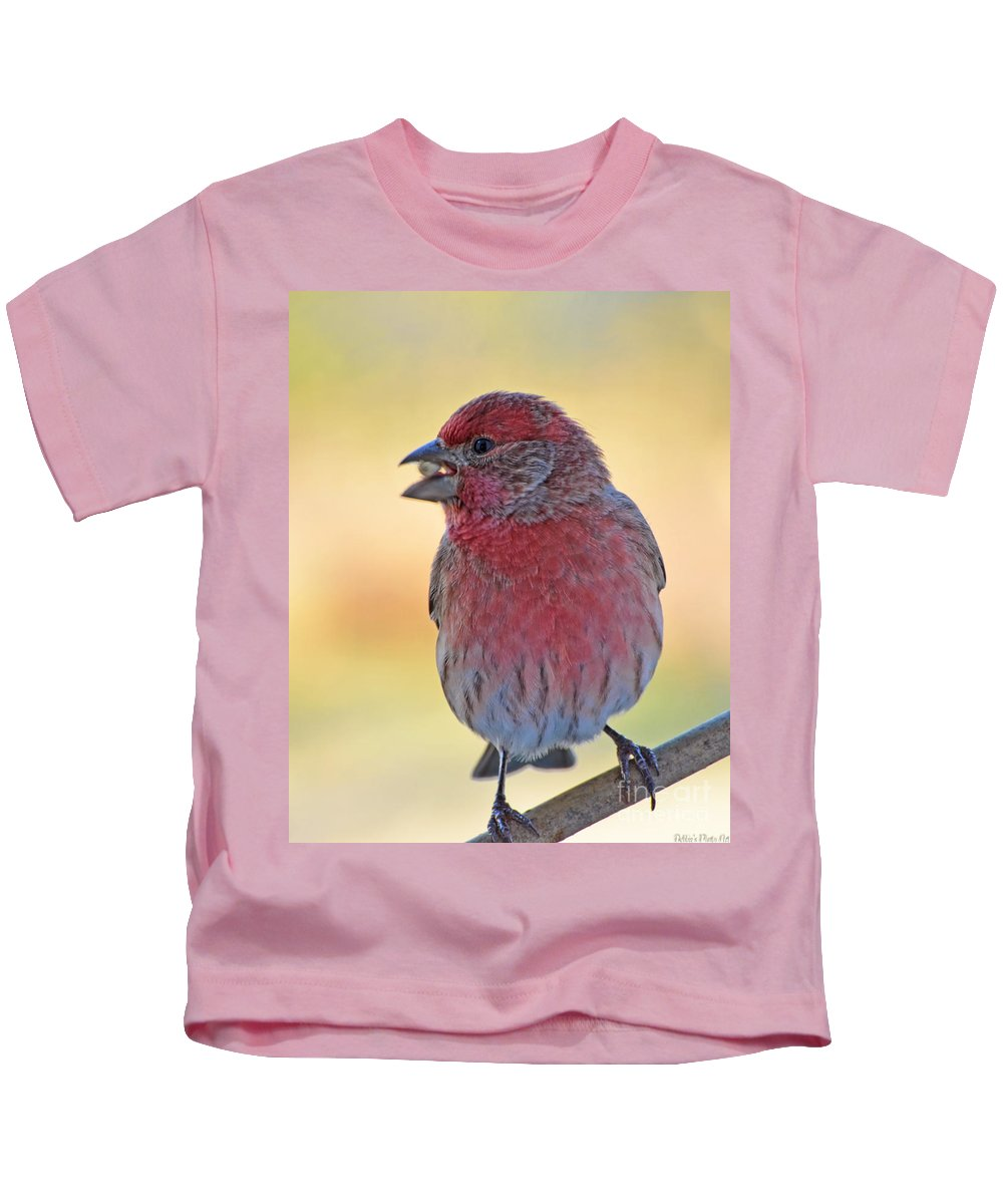 Nature Kids T-Shirt featuring the photograph House Finch II by Debbie Portwood