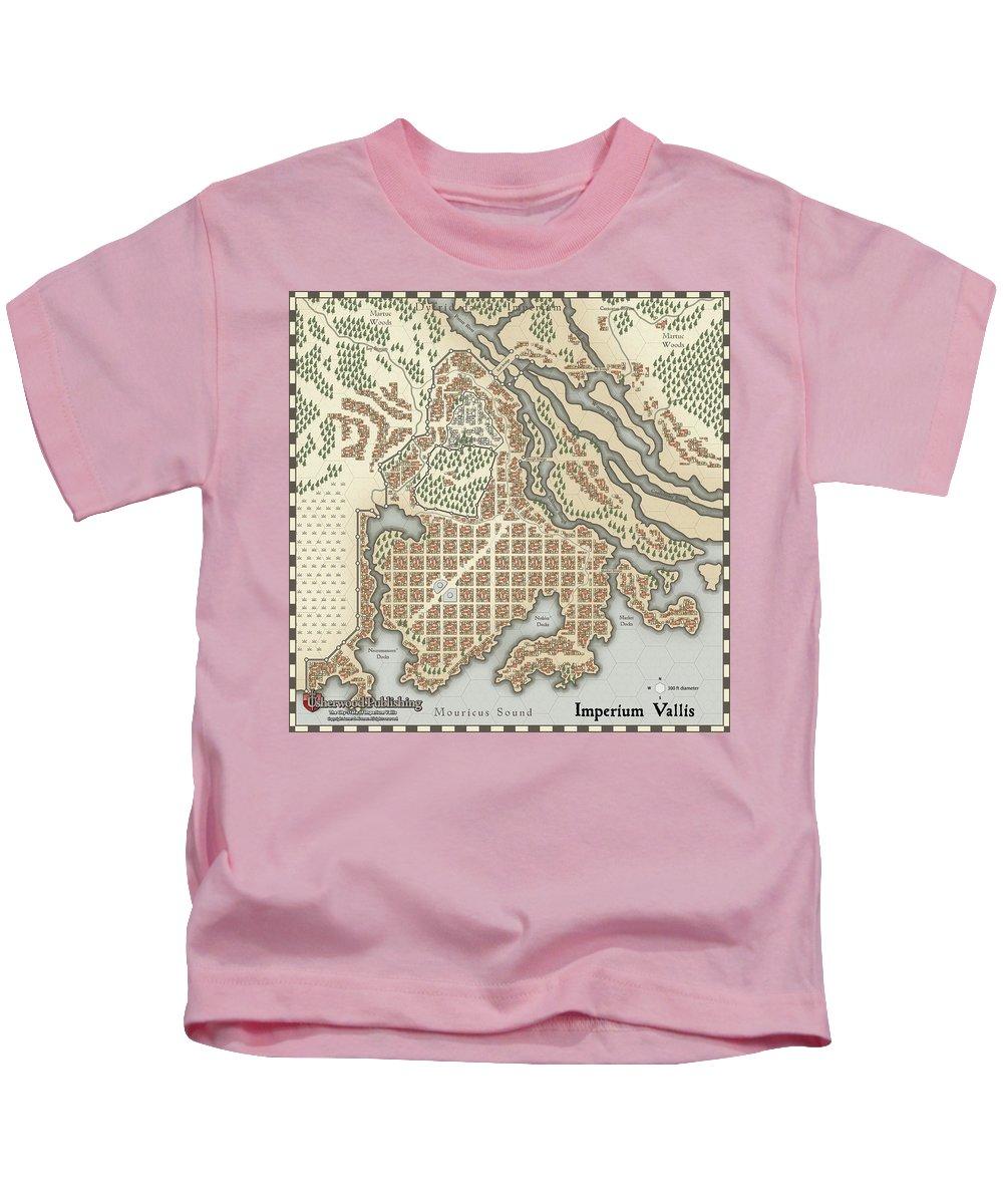 Usherwood Kids T-Shirt featuring the digital art Imperium Vallis by James Kramer