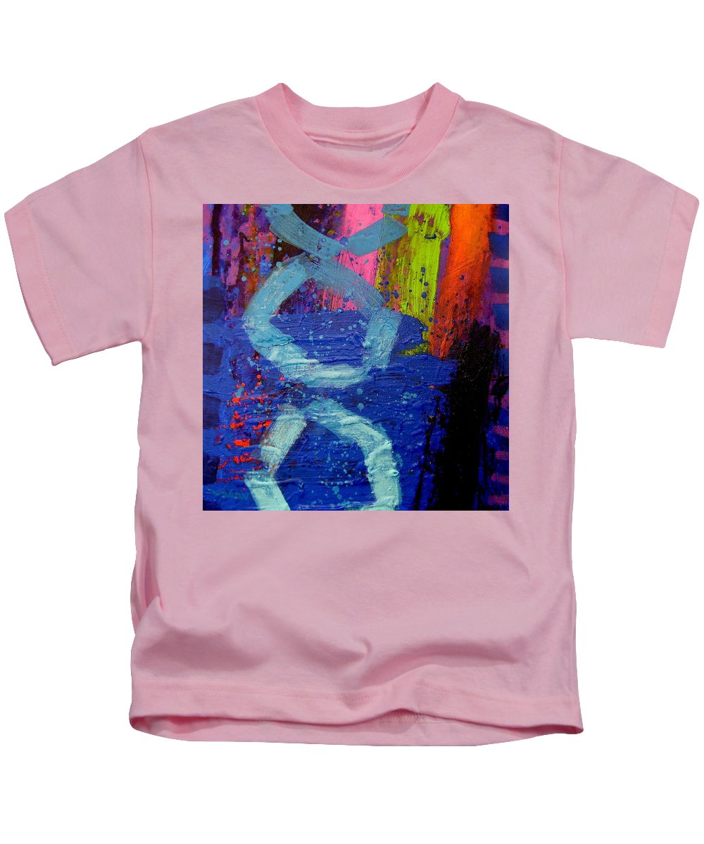 Abstract Kids T-Shirt featuring the painting Jazz Process - Improvisation by John Nolan