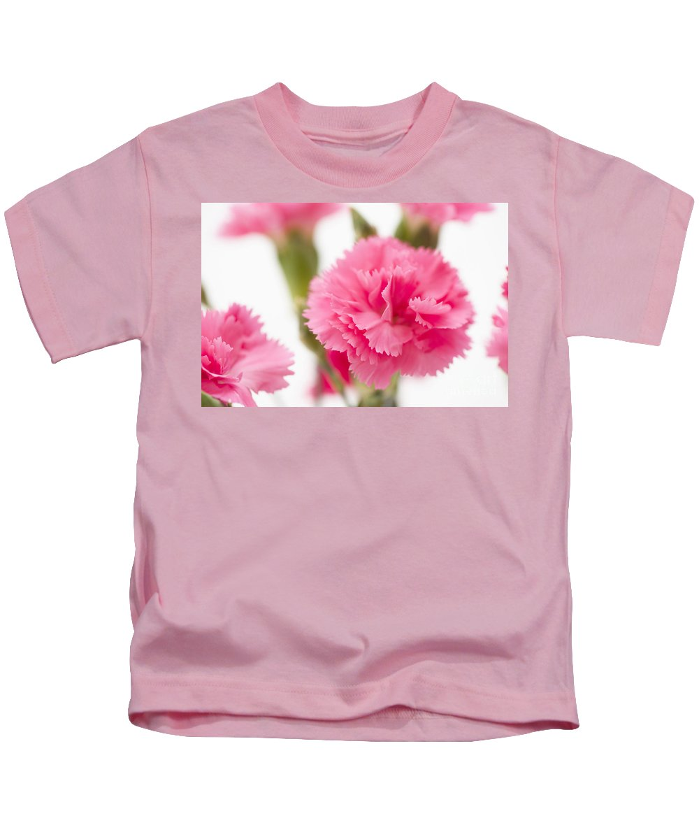 Simply Kids T-Shirt featuring the photograph Just Carnations by Anne Gilbert