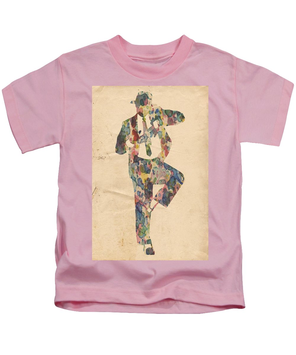 Michael Jackson Kids T-Shirt featuring the painting King Of Pop In Concert No 10 by Florian Rodarte