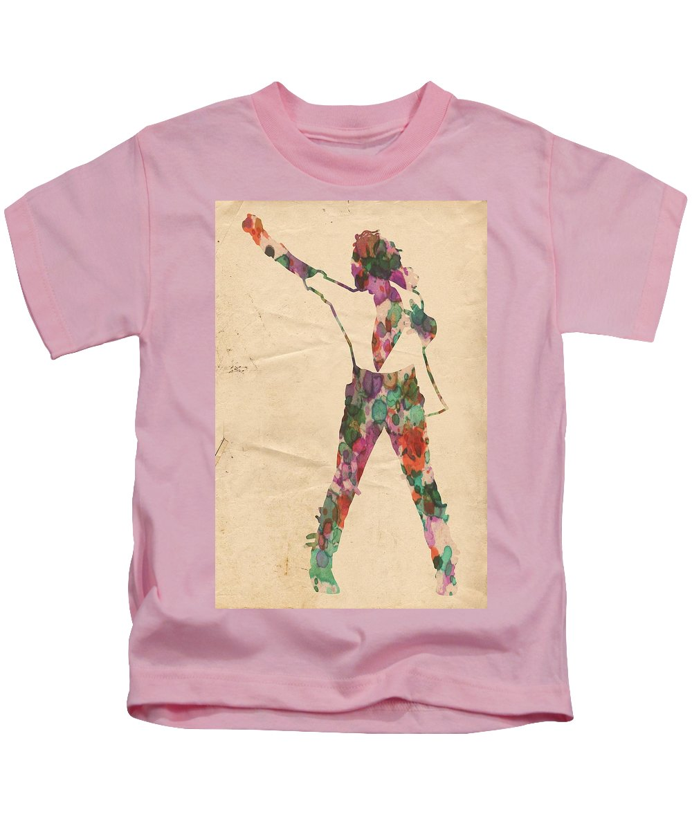 Michael Jackson Kids T-Shirt featuring the painting King Of Pop In Concert No 2 by Florian Rodarte