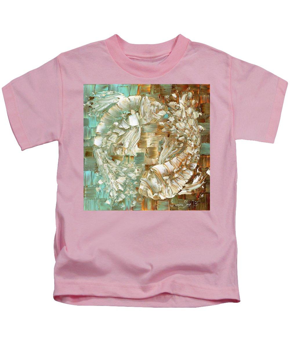 Koi Fish Kids T-Shirt featuring the painting Koi Fish by Susanna Shaposhnikova