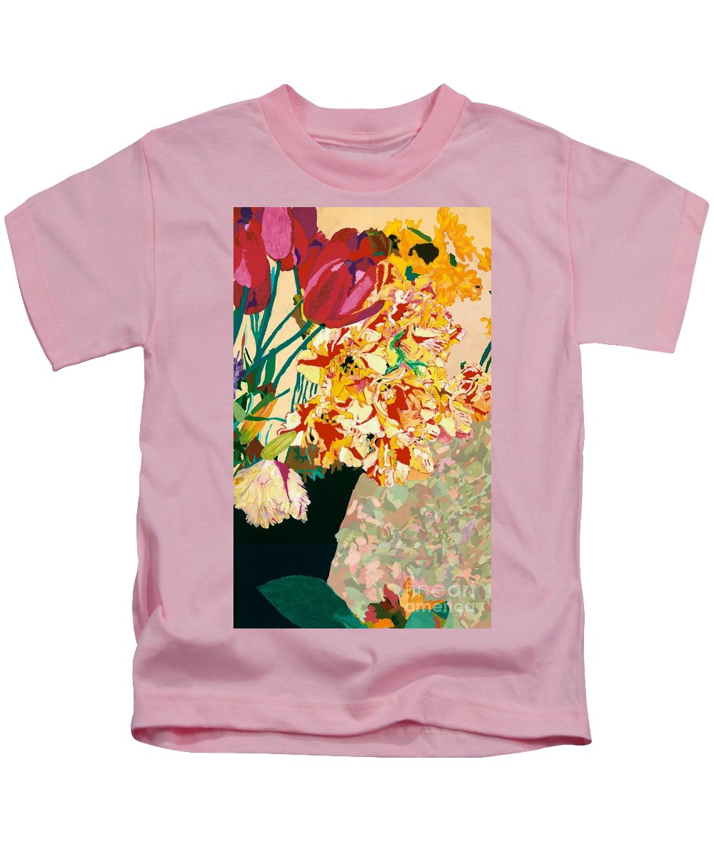 Landscape Kids T-Shirt featuring the painting Les Fleur by Allan P Friedlander