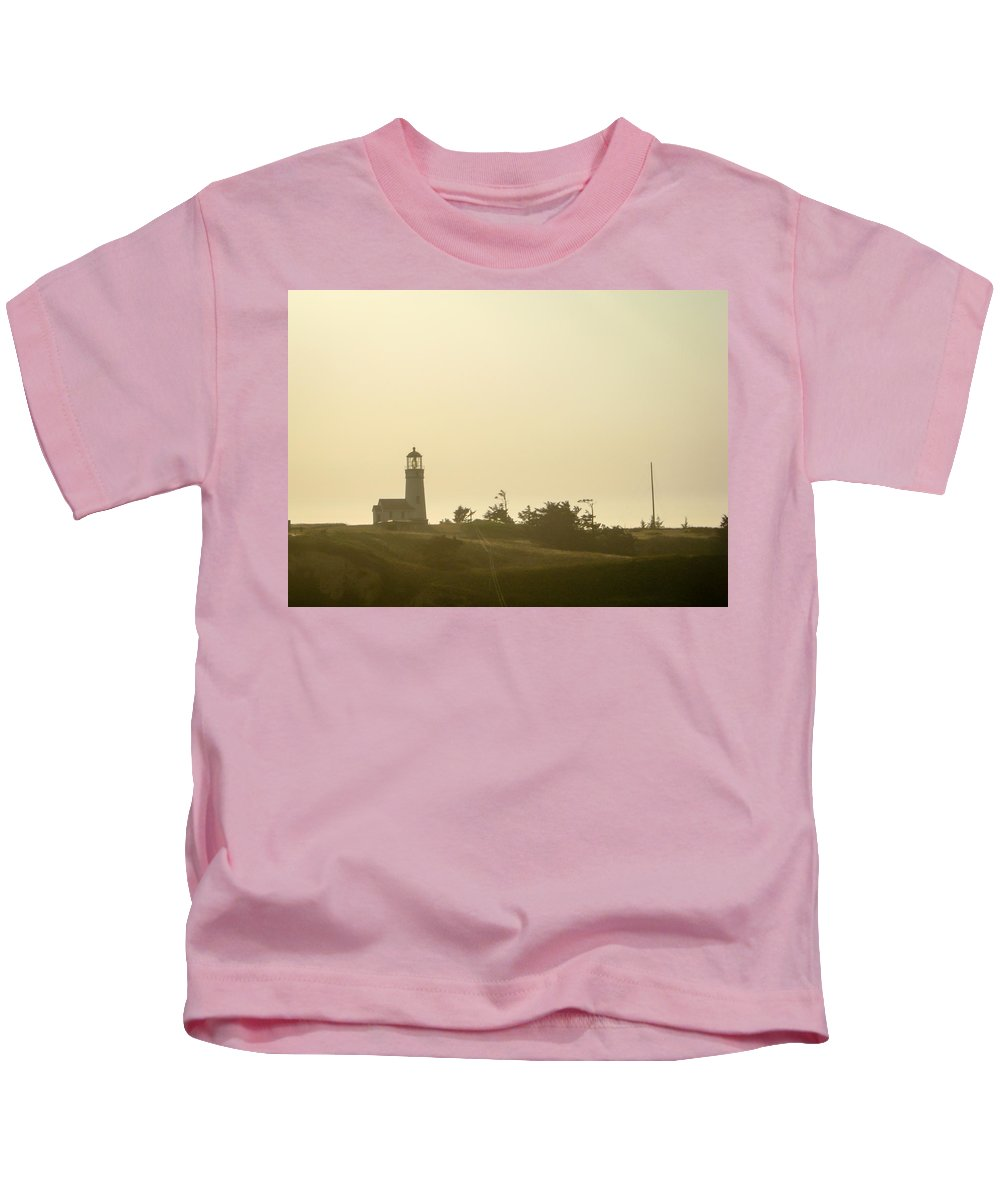 Lighthouse Kids T-Shirt featuring the photograph Light House In Oregon by Helix Games Photography