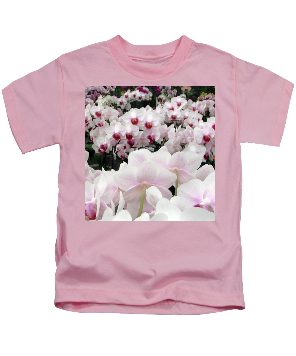 Orchid Kids T-Shirt featuring the photograph Little Faces by Debi Singer