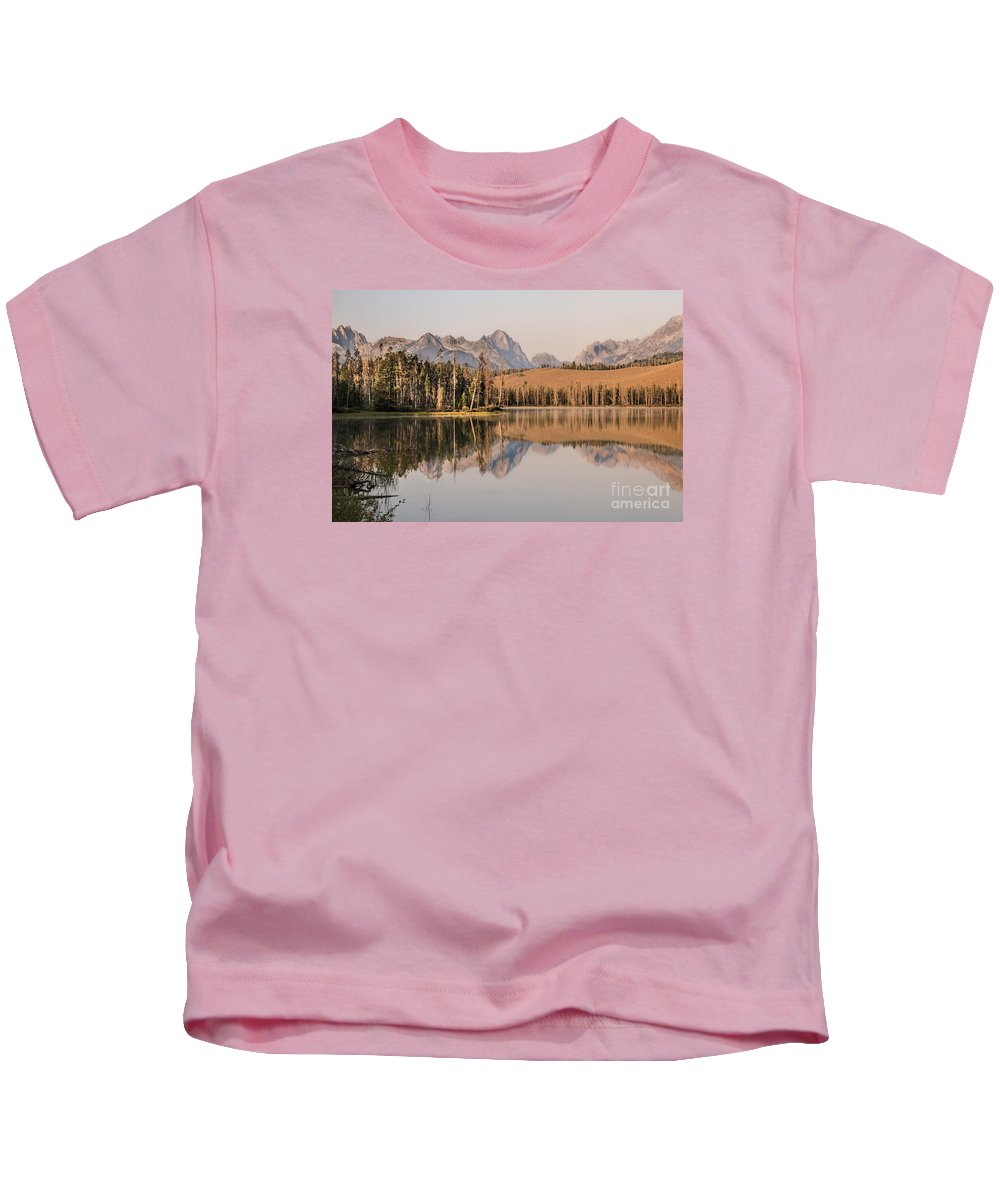 Rocky Mountains Kids T-Shirt featuring the photograph Little Redfish Lake Reflections by Robert Bales