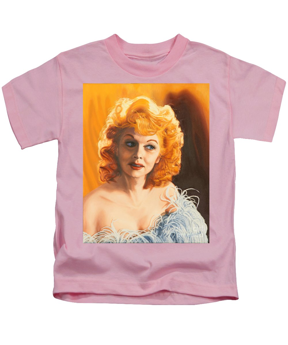 Lucy Kids T-Shirt featuring the painting Lucille Desiree by Guy C Lockwood