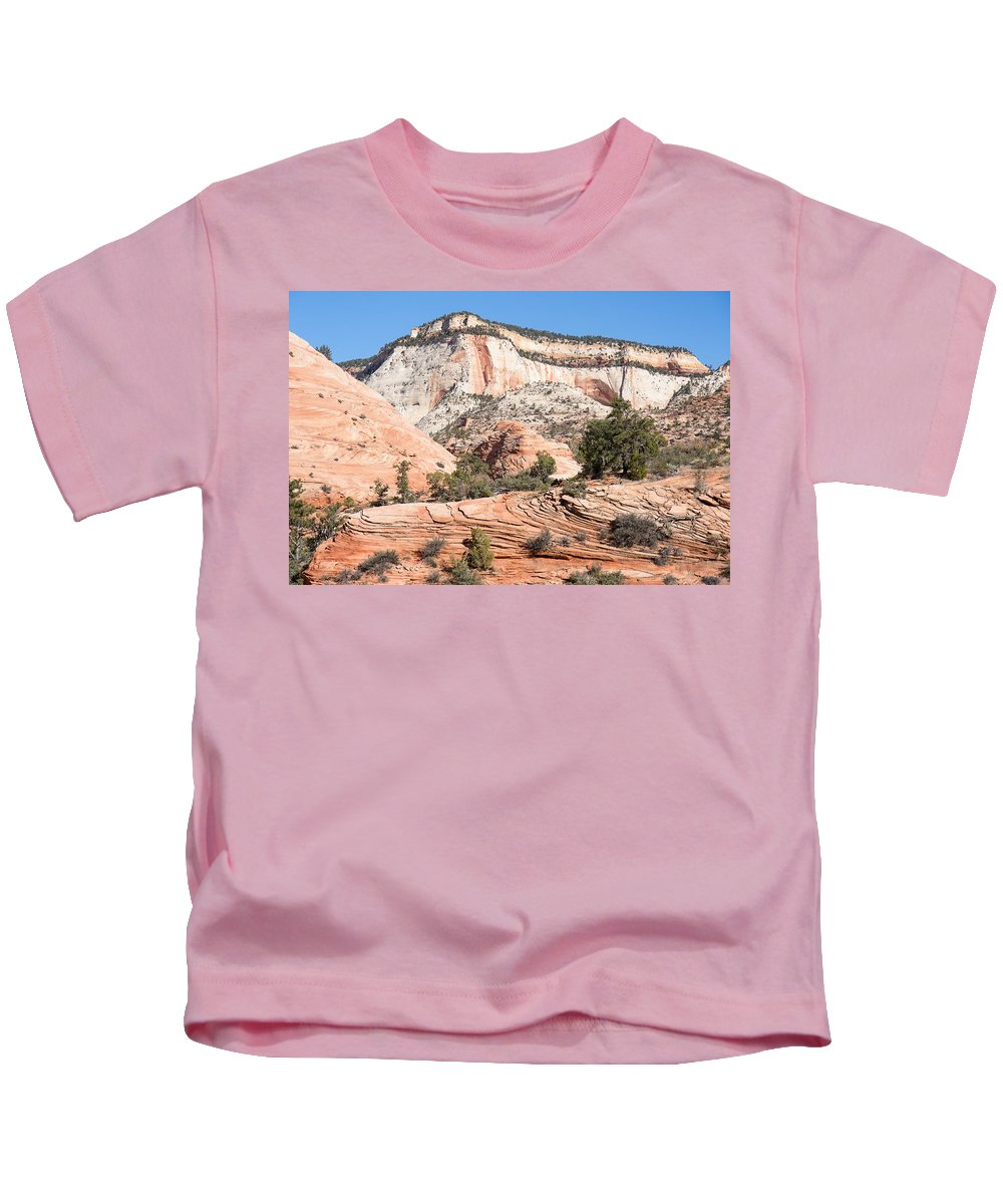 Landscape Kids T-Shirt featuring the photograph Magnificent Zion by John M Bailey