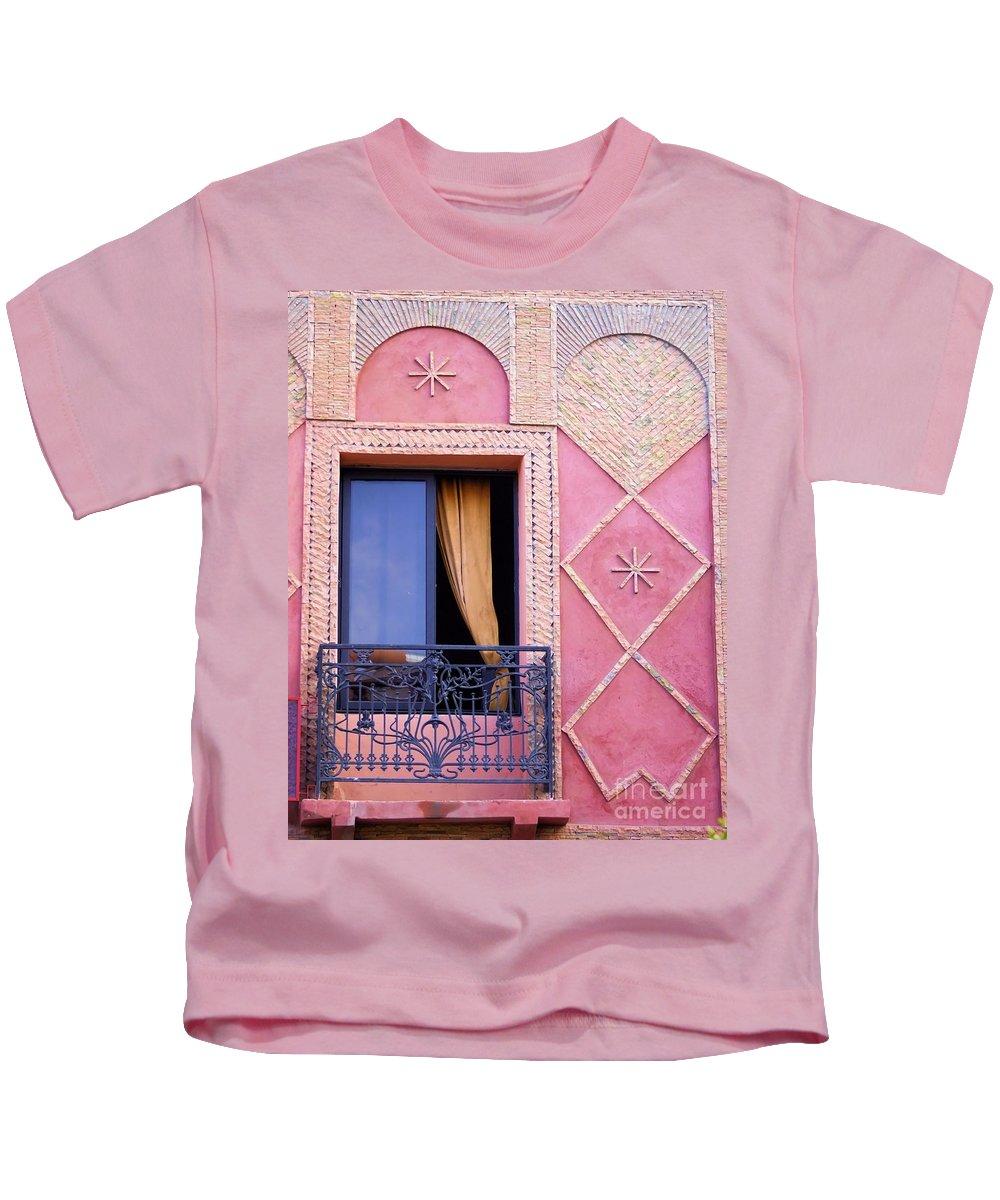 House Kids T-Shirt featuring the photograph Marrakesh Balcony by Brian Raggatt