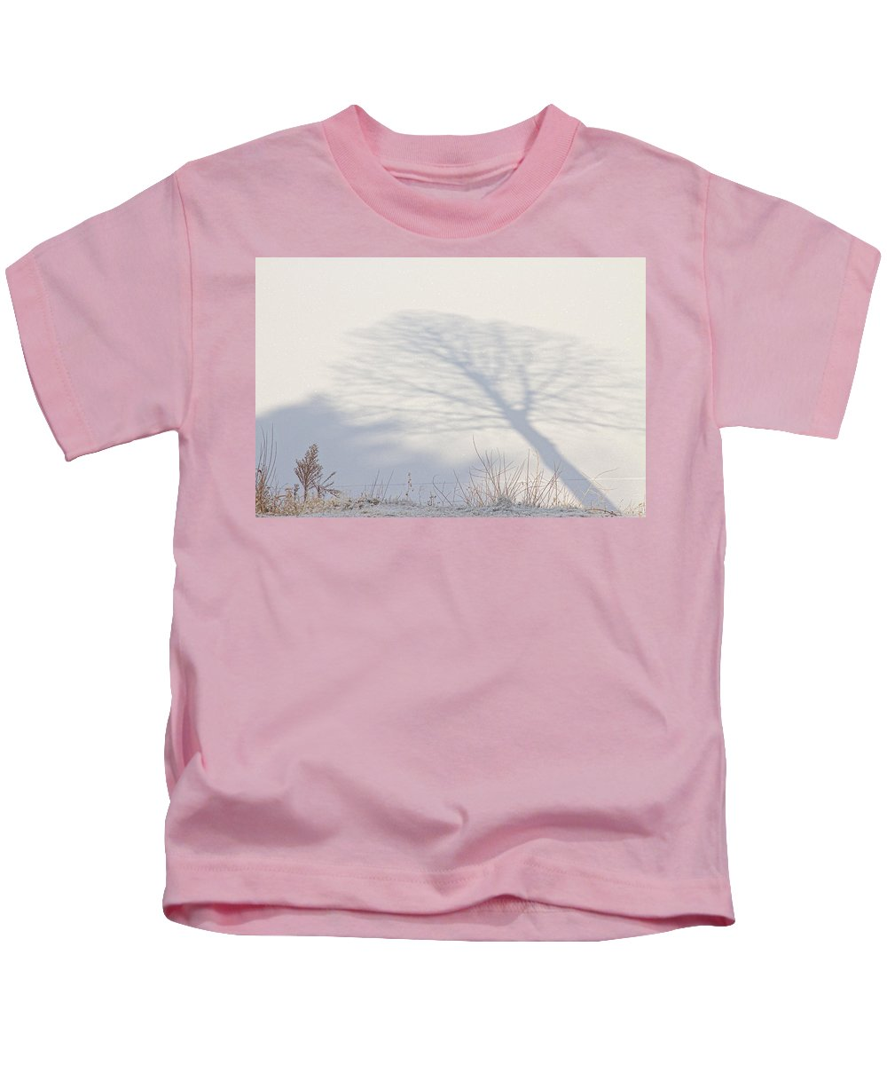 Winter Kids T-Shirt featuring the photograph Me And My Shadow by James BO Insogna