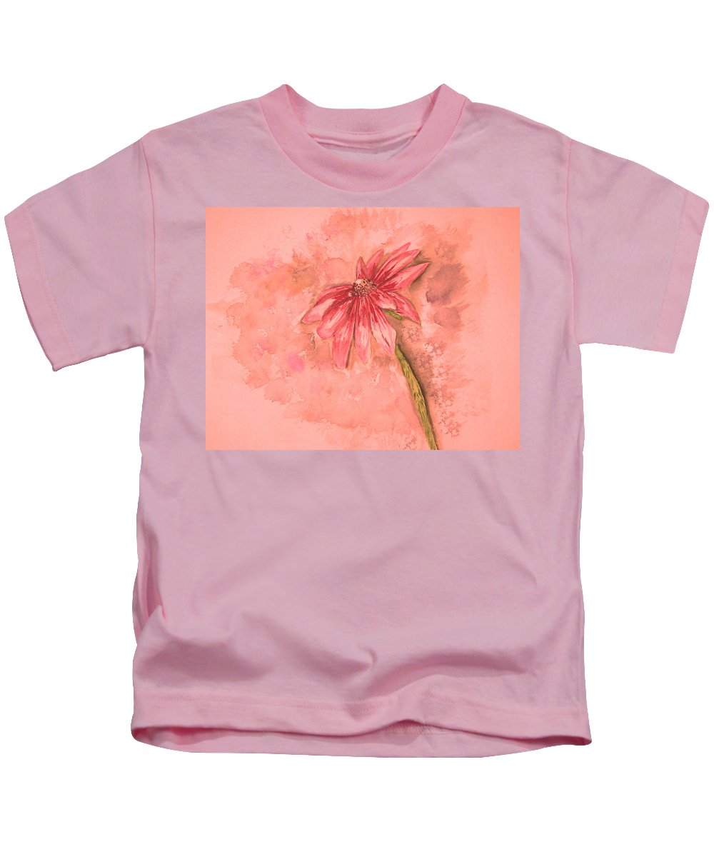 Watercolor Kids T-Shirt featuring the painting Melancholoy by Crystal Hubbard