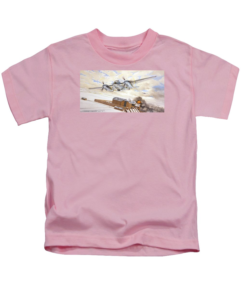 Aviation Kids T-Shirt featuring the painting Mosquitoes Over Jericho by Marc Stewart