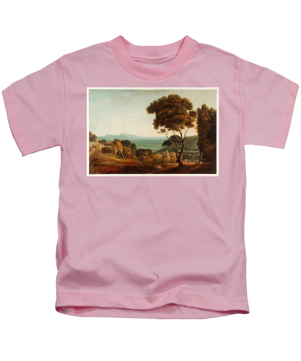 Francis Townenaples And Capri Kids T-Shirt featuring the painting Naples And Capri by Celestial Images