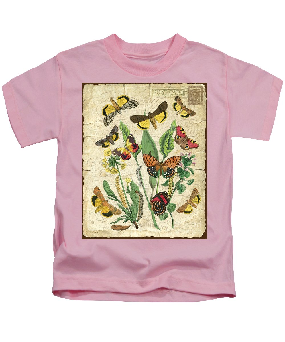 Butterfly Kids T-Shirt featuring the digital art Natures Beauty-no.1 by Jean Plout