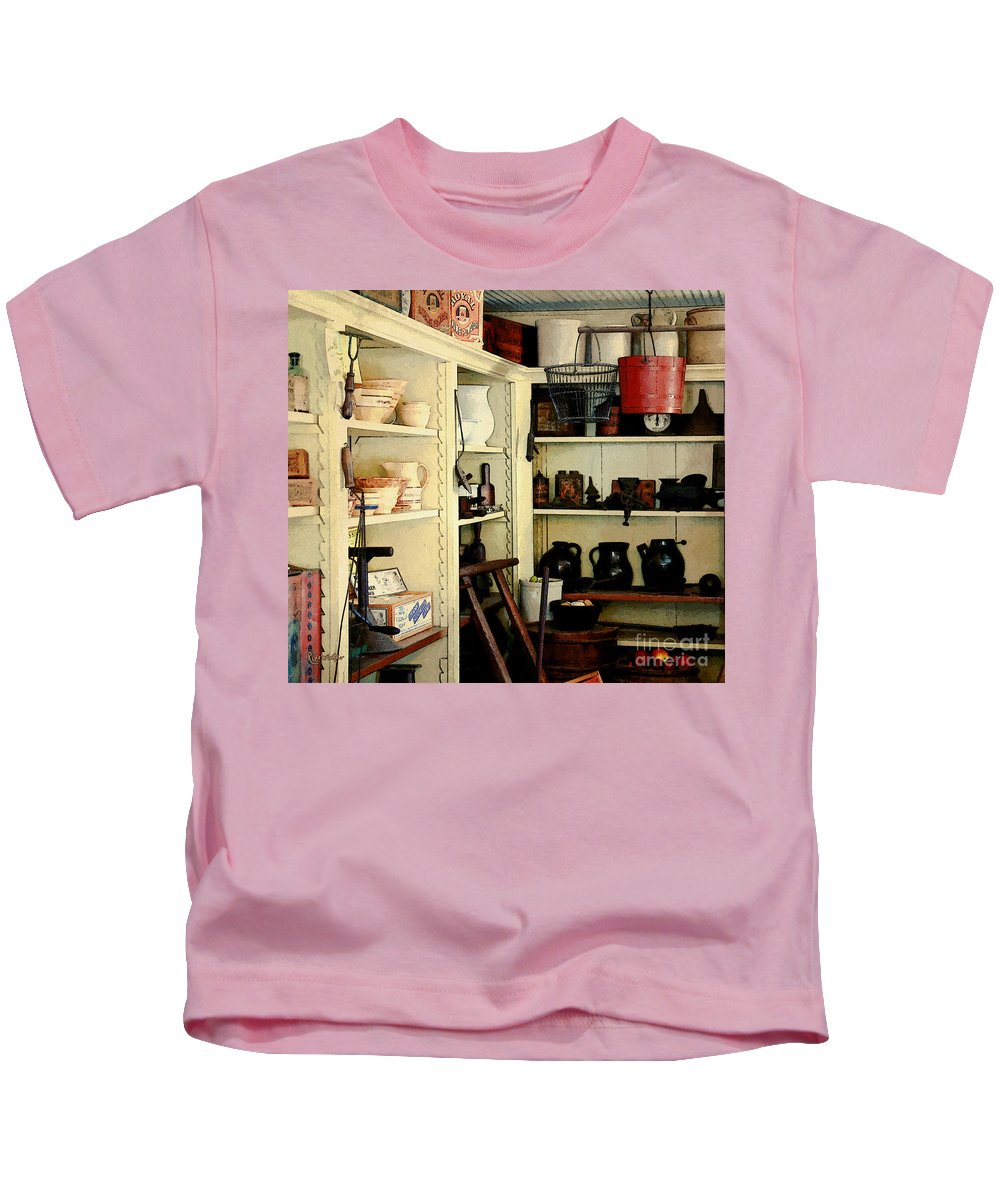 Antiques Kids T-Shirt featuring the painting Needful Things by RC DeWinter