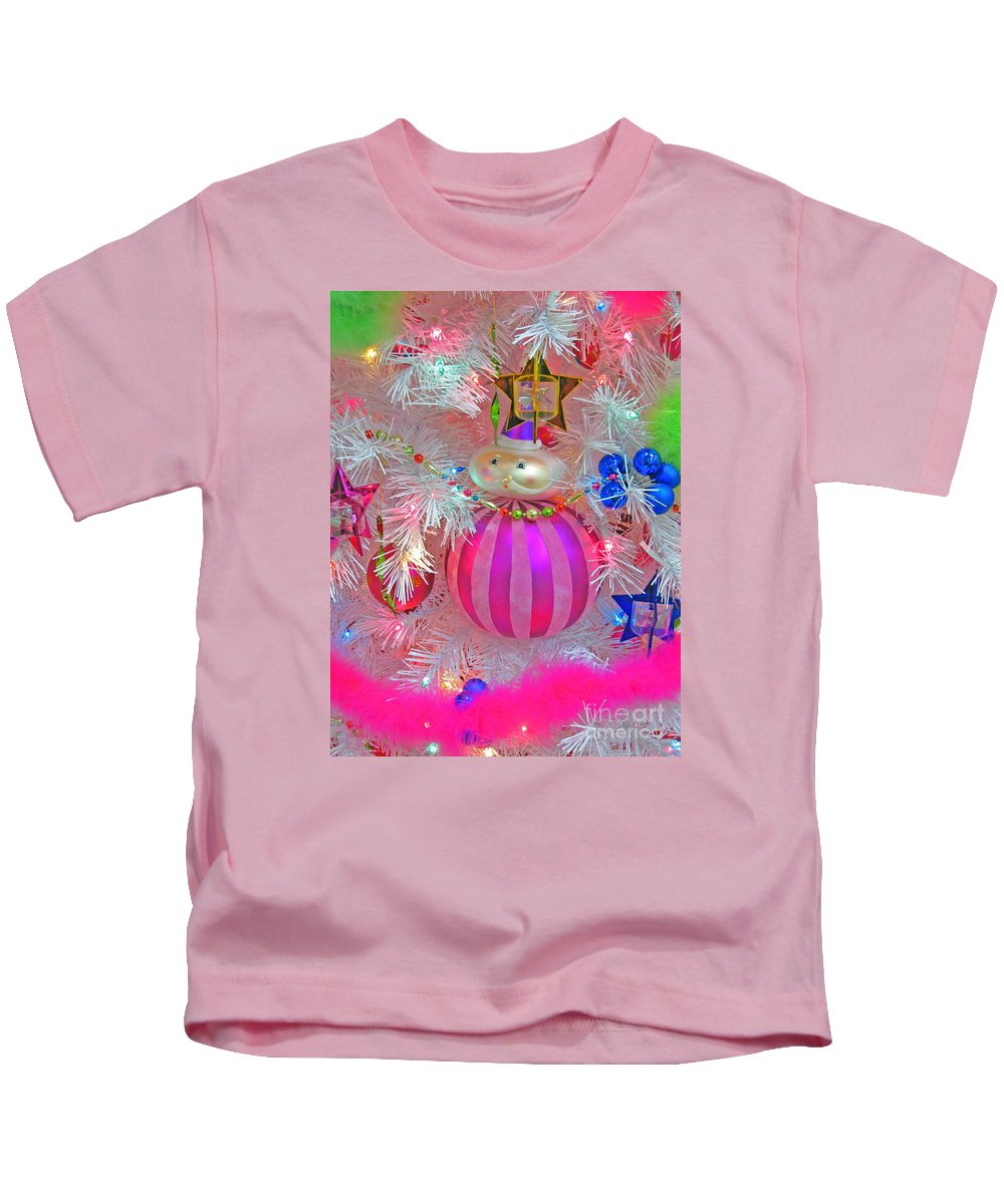 Christmas Kids T-Shirt featuring the photograph Neon Holiday Tree by Ann Horn