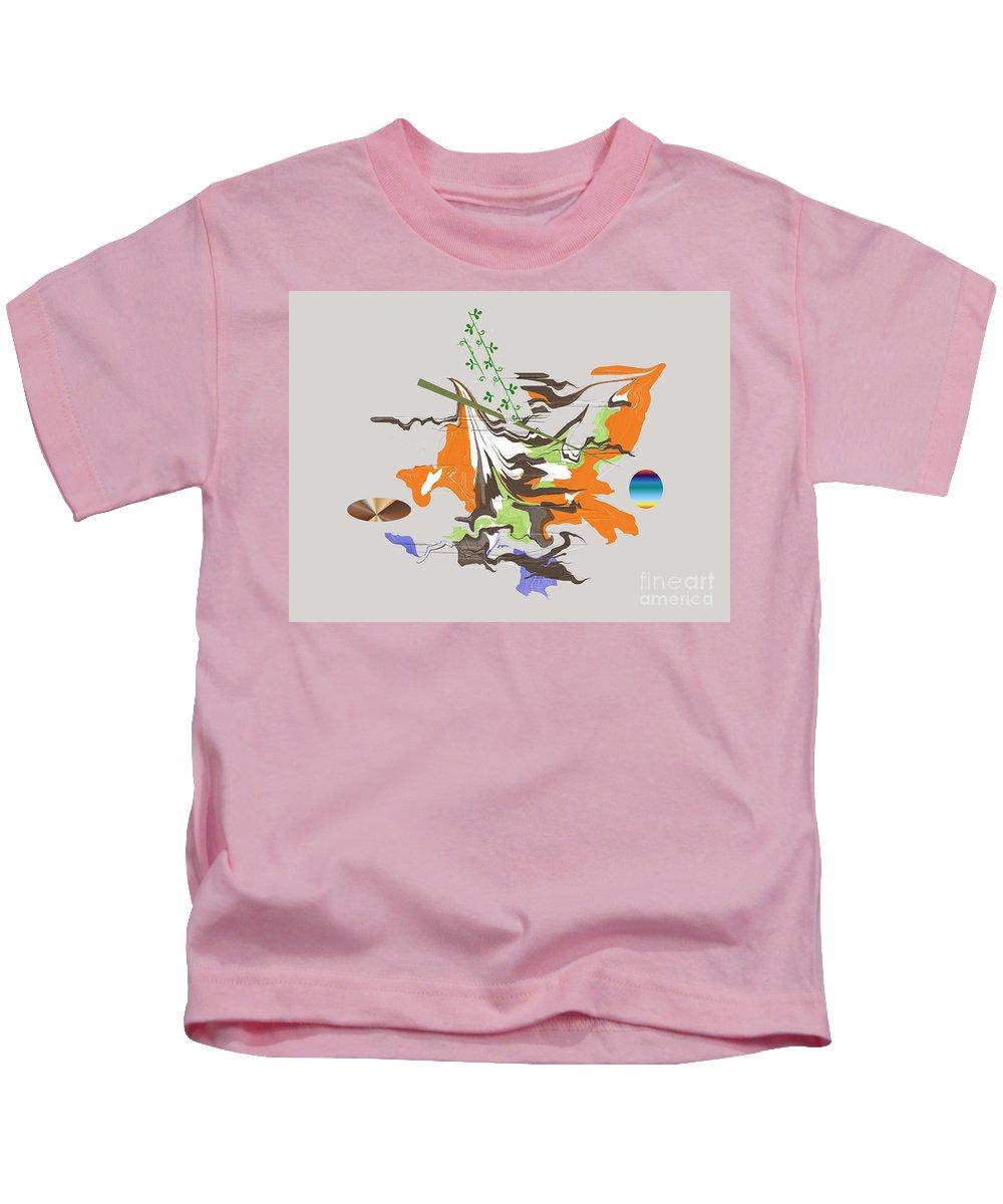 Kids T-Shirt featuring the digital art No. 1092 by John Grieder