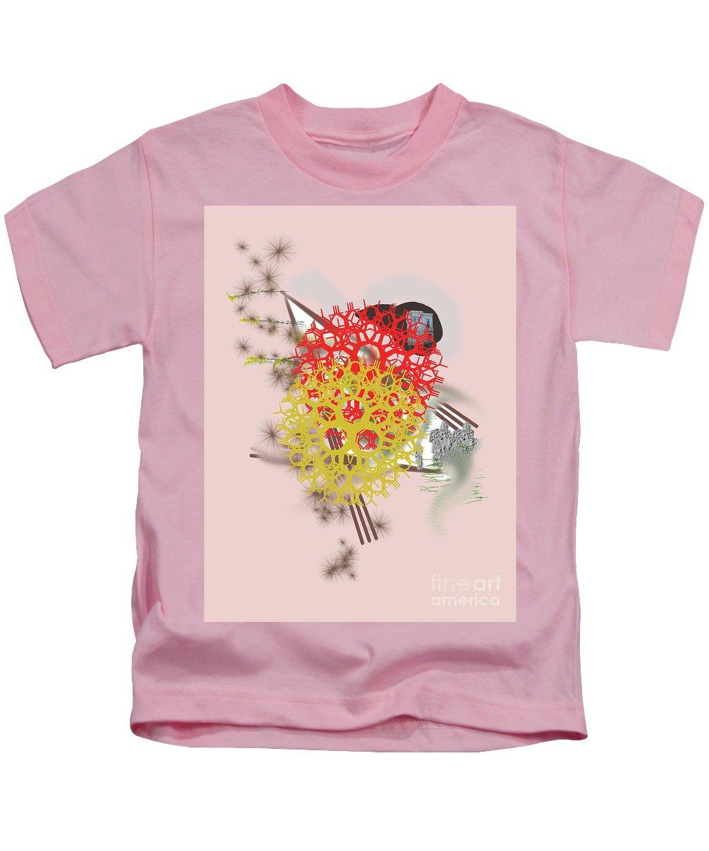 Kids T-Shirt featuring the digital art No. 958 by John Grieder