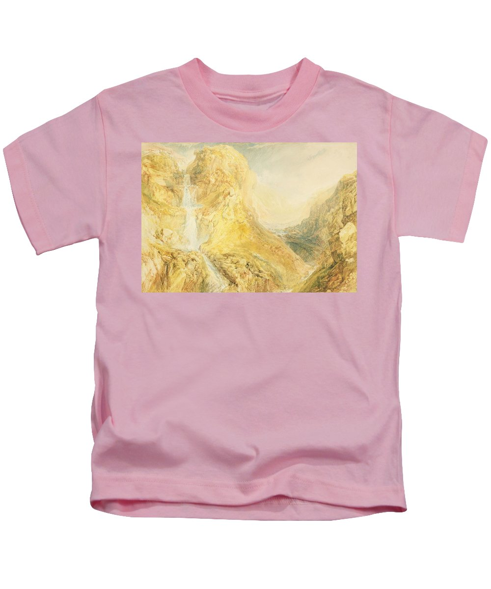 29 1x41 8cm Kids T-Shirt featuring the painting No.0571 Mossdale Fall, Yorkshire by Joseph Mallord William Turner
