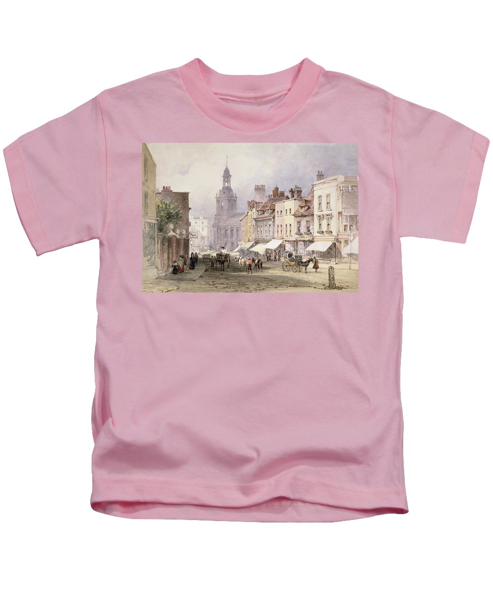 Street Kids T-Shirt featuring the drawing No.2351 Chester, C.1853 by William Callow