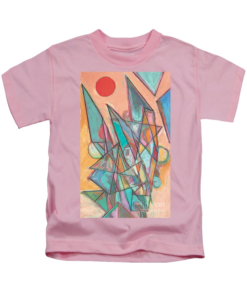 Landscape Kids T-Shirt featuring the painting Noontime by Allan P Friedlander