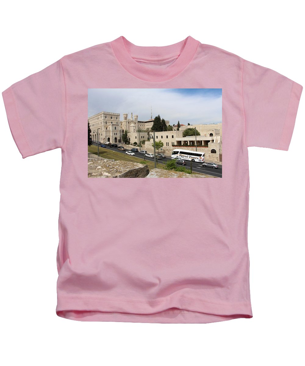 Notre Kids T-Shirt featuring the photograph Notre Dame by Munir Alawi
