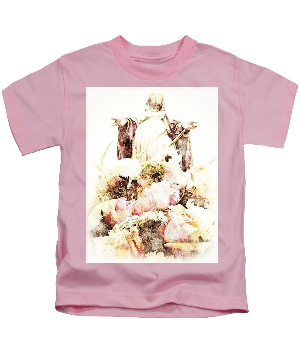 Jesus Kids T-Shirt featuring the photograph O Divine Mercy by Davy Cheng