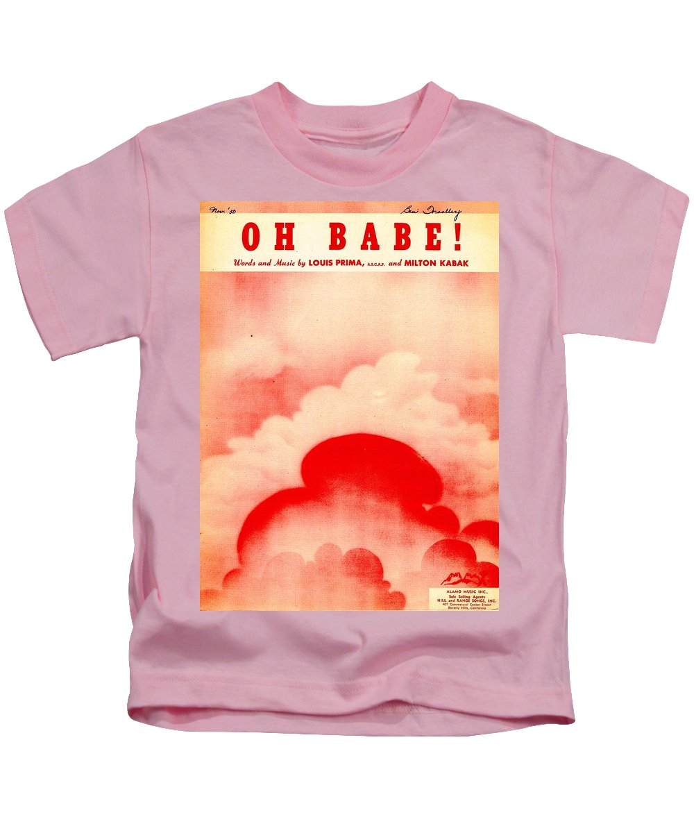 Nostalgia Kids T-Shirt featuring the photograph Oh Babe by Mel Thompson