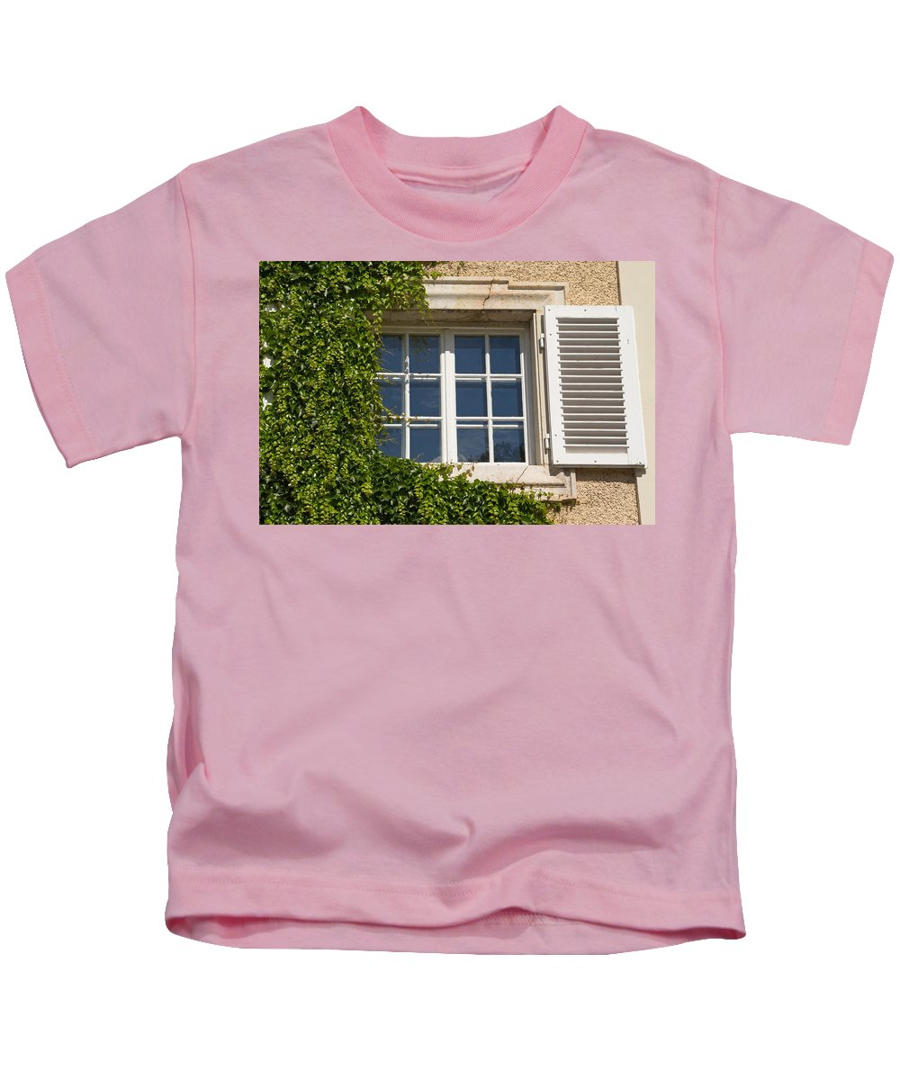 Architecture Kids T-Shirt featuring the photograph Old Window With Creeper. by Jaroslav Frank