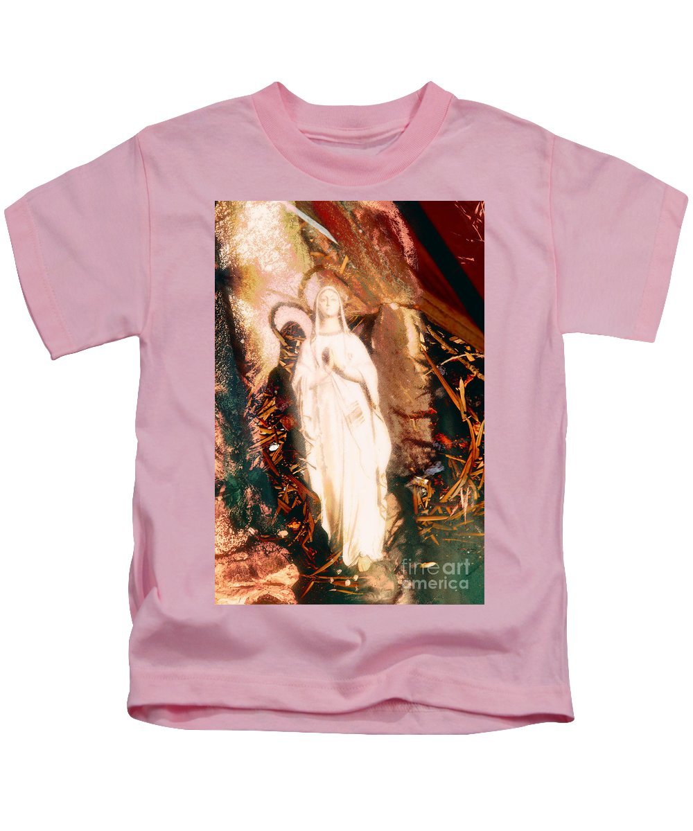 Our Lady Of Lourdes Kids T-Shirt featuring the photograph Our Lady Of Lourdes by Davy Cheng