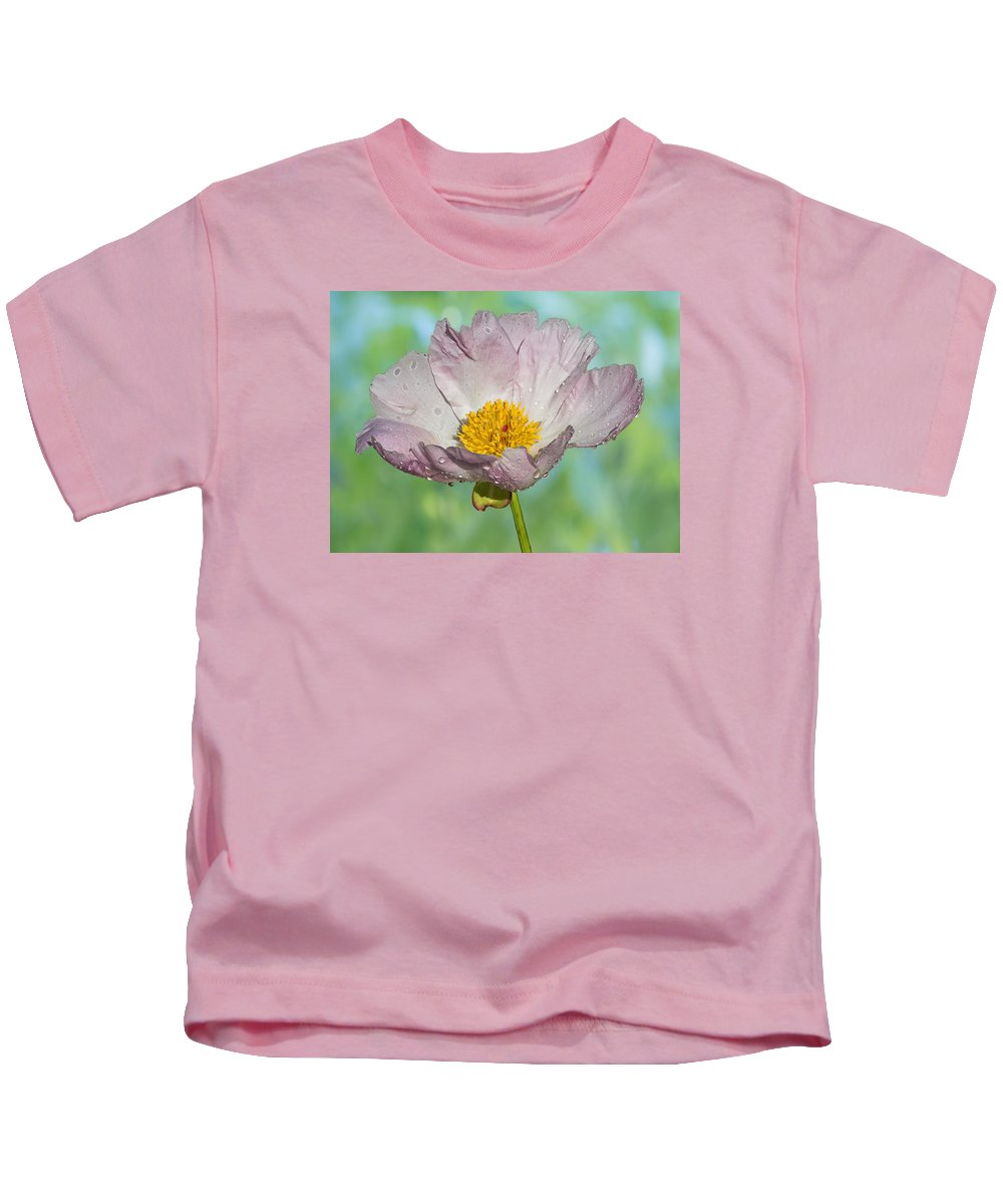Peony Kids T-Shirt featuring the photograph Pale Pink Peony by Patti Deters
