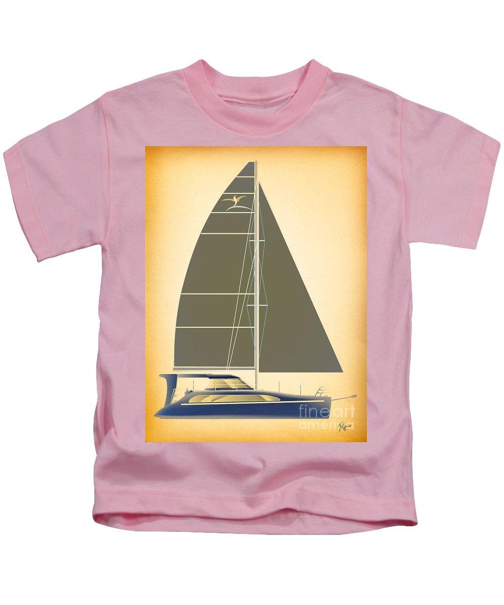 Regina Gallant Kids T-Shirt featuring the drawing Pearl by Regina Marie Gallant