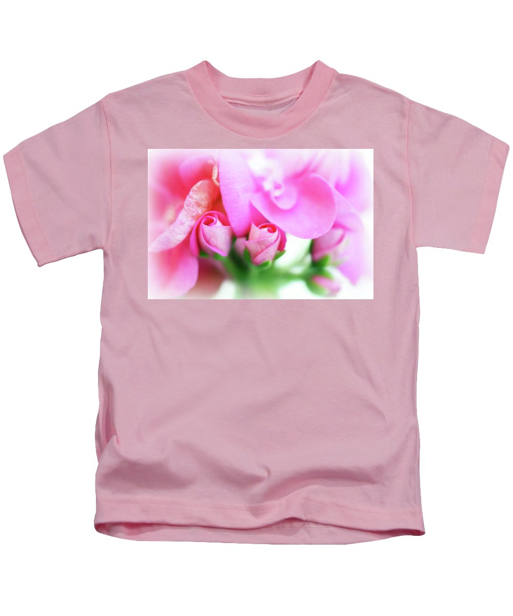 Lisa Knechtel Kids T-Shirt featuring the photograph Pink Geranium by Lisa Knechtel